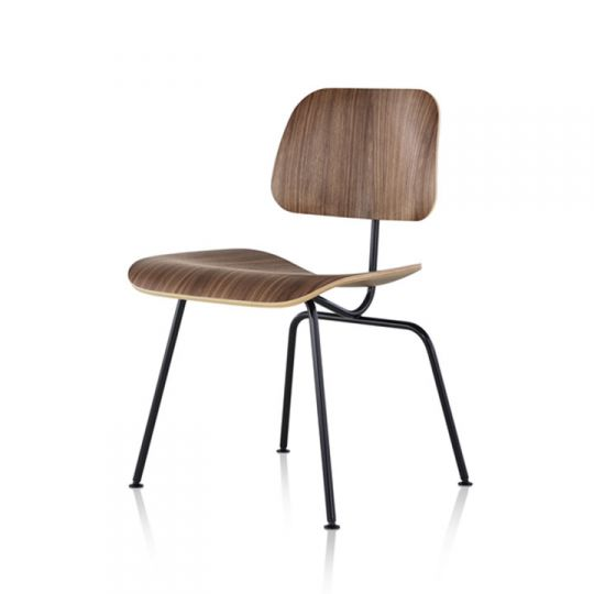 Eames Dcm Molded Plywood Dining Chair With Metal Base Design Quest