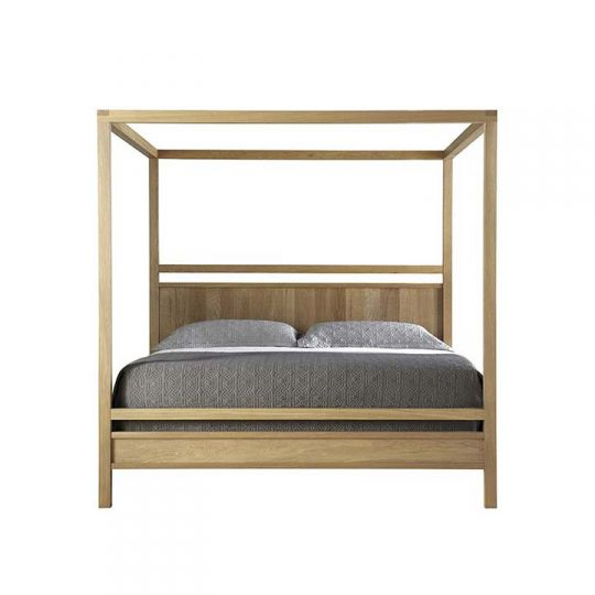 West Bros Fulton Bedroom Poster Canopy Bed With Upholstered Headboard